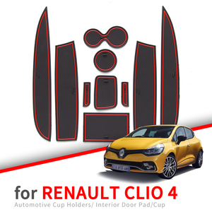 Anti-Slip Gate Slot Cup Mat for Renault Clio 4 Door Groove Non-slip Pad Interior car-styling accessories Coaster