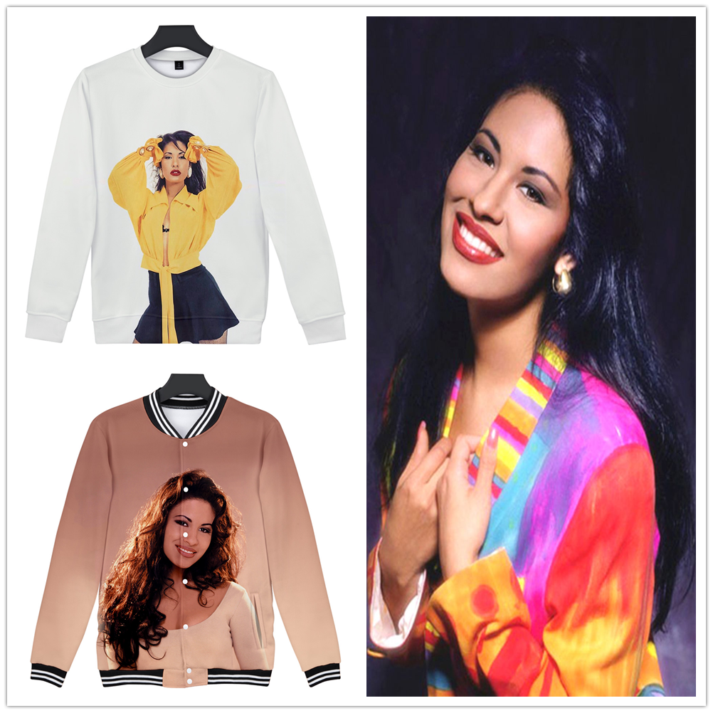 Selena Quintanilla Fashion 3D Outwear Harajuku O-Neck Sweatshirts High Street 2019 New Women/Men Streetwear Jacket Sweatshirt