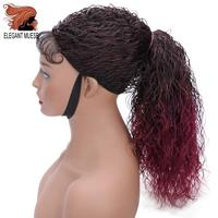ELEGANT MUSES Synthetic Curly Senegalese Twist Braid Wig Lace Front Wig for Women Crochet Twist Braiding Hair Ombre Burgundy