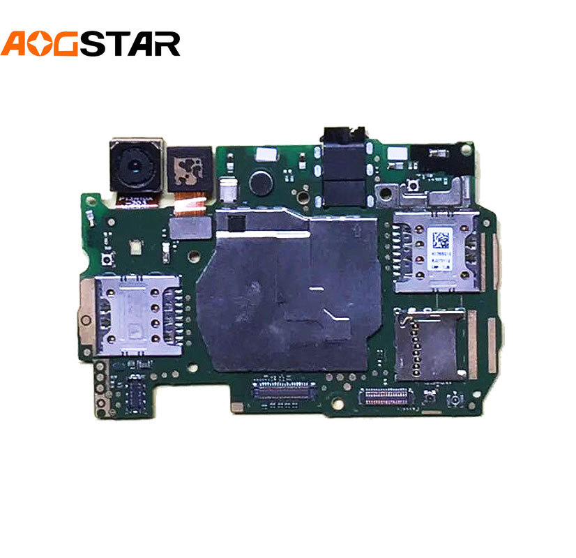 Aogstar Mobile Electronic Panel Mainboard Motherboard Unlocked With Chips Circuits Flex Cable For Huawei Y6 CAM-L21