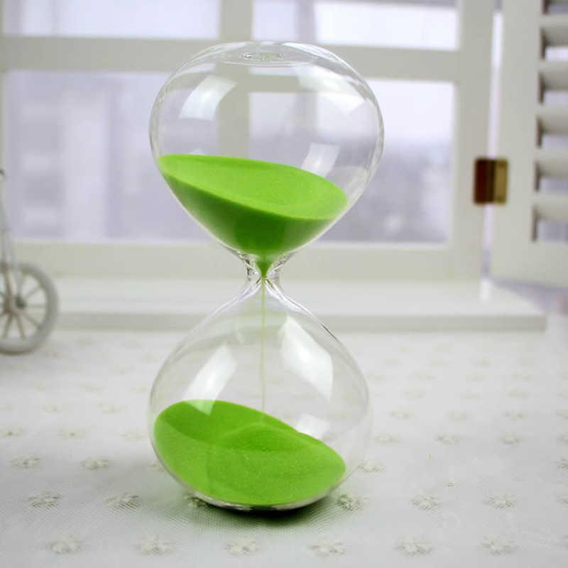 5 min/15 min/30 min Rodada Transparente Areia Ampulheta Ampulheta Temporizador da Areia da Cor Decoração do Quarto Vermelho, verde, Azul, Rosa C