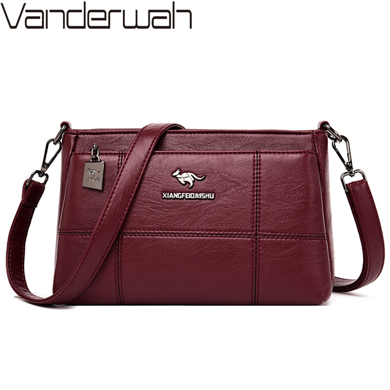 Fashion Women Leather Handbags Multi-layer Casual Female Tote Shoulder Bag Small Crossbody Bags For Women Purses And Handbags