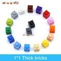 180 stücke DIY Bausteine Dicken Zahlen Bricks 1x1 Punkte Pädagogisches Kreative Kompatibel Mit 3005 Kunststoff Spielzeug für kinder