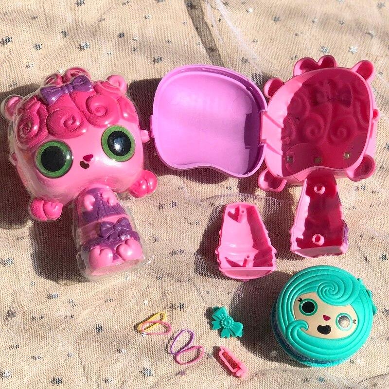 Pop волос сюрприз Домашние любимцы куклы для девочек 3 в 1 Magic Pop парикмахерская расческа ролик кукла с аксессуарами, комплект, подарок на Рождество|Игрушки и хобби|| | АлиЭкспресс