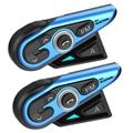 WAYXIN 2 Pcs 1200M Bluetooth Intercom Motorrad Helm Headsets 2 Reiter BT Wireless Walkie Talkie Moto Sprech R15 FM radio