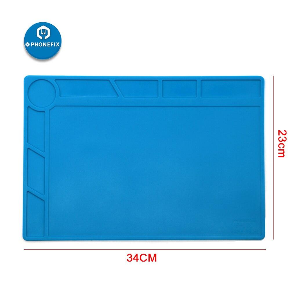 PHONEFIX 23CM*34CM Heat Resistant Mat Heat Insulation Silicone Pad Maintenance Platform For BGA Cell Phone BGA Repair Soldering