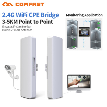 COMFAST 2pcs Long Range 3-5KM Outdoor Powerful Wireless AP Bridge 300Mbps 2.4Ghz WIFI CPE 2*14dBi WI-FI Antenna Nanostation 3 5km long distance 300mbps outdoor wifi router cpe 2 14dbi wifi antenna high power 5ghz wifi repeater rj45 poe wireless bridge