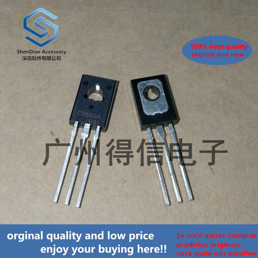 10pcs 100% Orginal New  KSC2690A C2690A  TO-126Audio Frequency High Frequency Power Amplifier  Real Photo