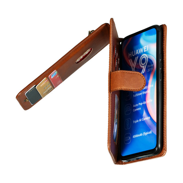Honor 9 X Premium Flip Case for Huawei Honor 9X Case Honor 9X Premium Case Zipper Card Slot Wallet Fundas Honor9X X9 Shockproof
