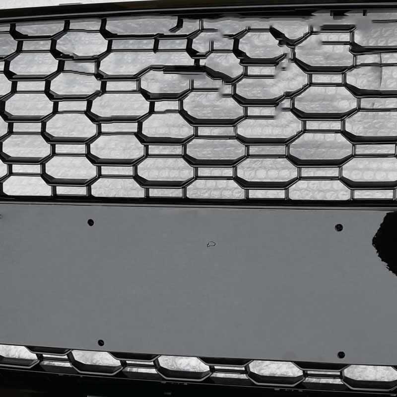 EBTOOLS Hex Mesh Honeycomb Grill S4 B9 17-18 para RS4 Style Front Sport Hex Mesh Honeycomb Hood Grill negro brillante para A4