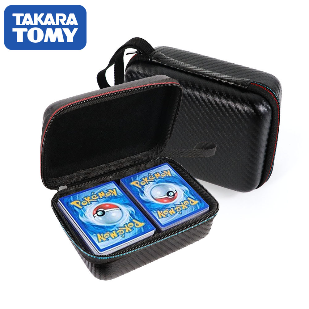 TAKARA TOMY Safety Large Capacity Case Bag 2 Row for Pokemon Gx French Card, Yugioh Cards Game Holder for Pokemon Card image