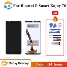 Original For Huawei P Smart LCD Display Touch Screen Digitizer Assembly For Huawei enjoy 7S LCD With Frame  LA1 LXt 6.59 Inch