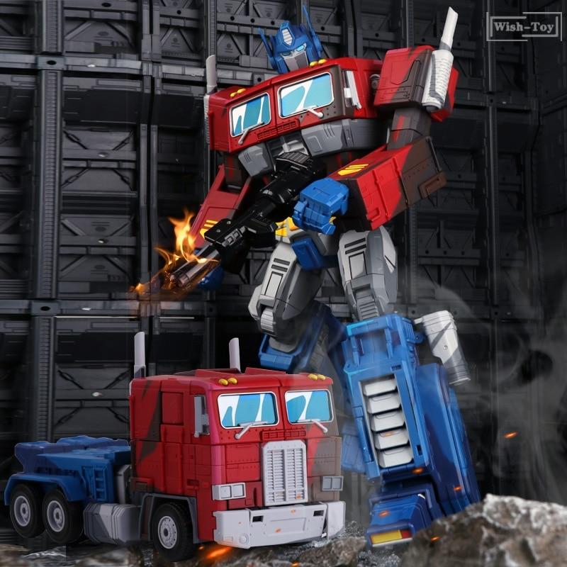 New IN STOCK WJ MPP10E Commander Oversize OptimusPrime Robot EVA with trailer