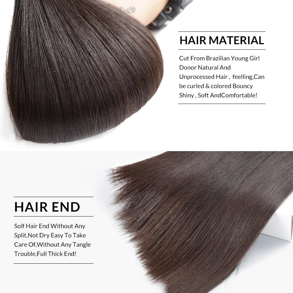 FDX 30 32 34 36 38 40 Inch Silky Straight   Bundles 100%  Bundles 1/3/4 Pieces Natural Color 3