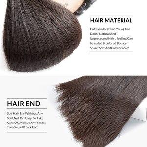 FDX 30 32 34 36 38 40 дюймов шелковистые прямые бразильские волосы плетение пряди 100% Remy человеческие волосы пряди 1/3/4 шт натуральный цвет