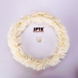 Image 3 - SPTA pojedyncza twarz wełniana nakładka polerska haczyk i pętelka tarcza polerska do polerki naturalna podkładka wełniana