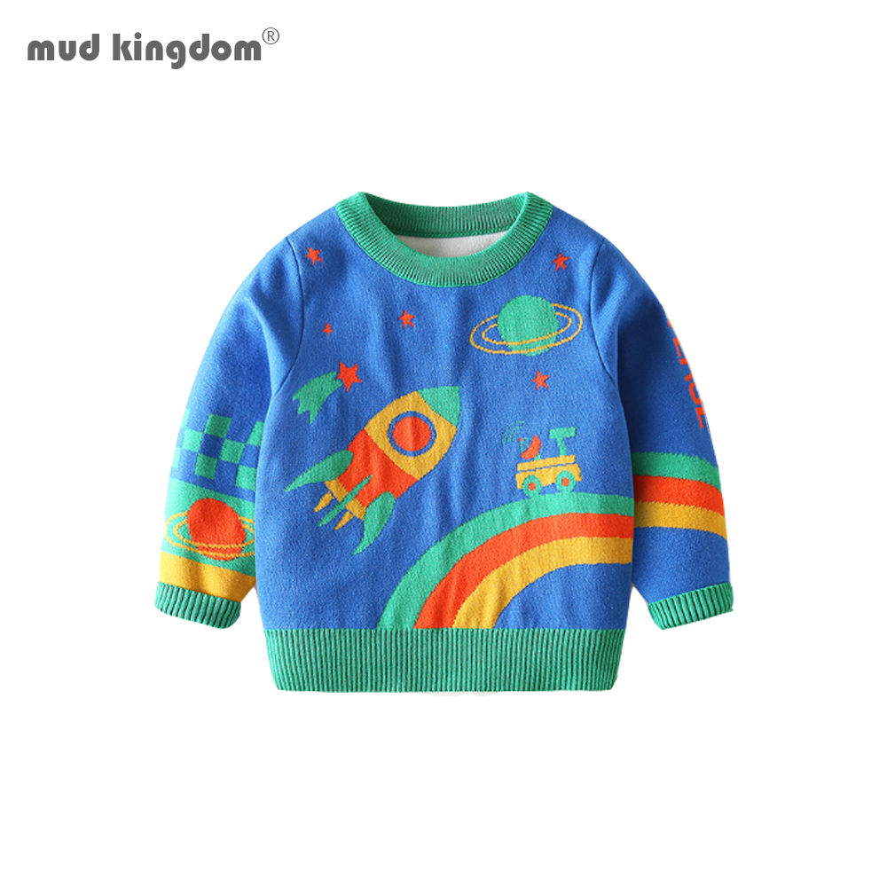 Mudkingdom Winter Kids Boys Knit Sweaters Toddler Cartoon Fashion Clothing Fall Children Pullover Clothes 1