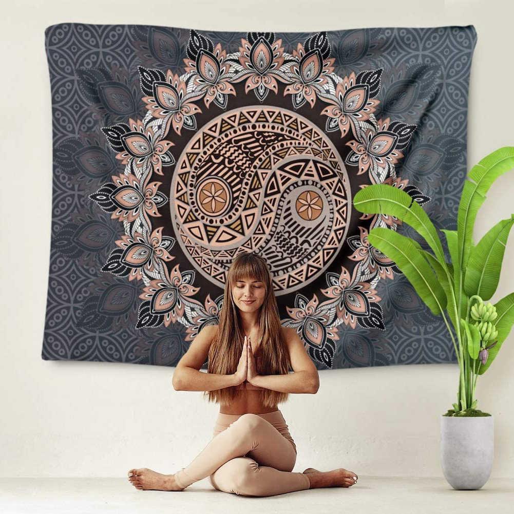 Grand Mandala tapisserie florale Yin Yang tenture murale tapisseries bohème décoration murale Tapiz pour chambre dortoir salon Boho décor