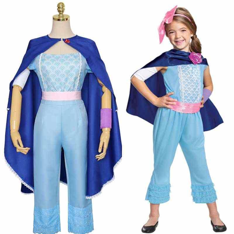 映画トイストーリー 4 衣装ボーのぞき見羊飼いウッディコスプレトップパンツマントスーツ大人の女性子供女の子ハロウィン衣装 e200K62