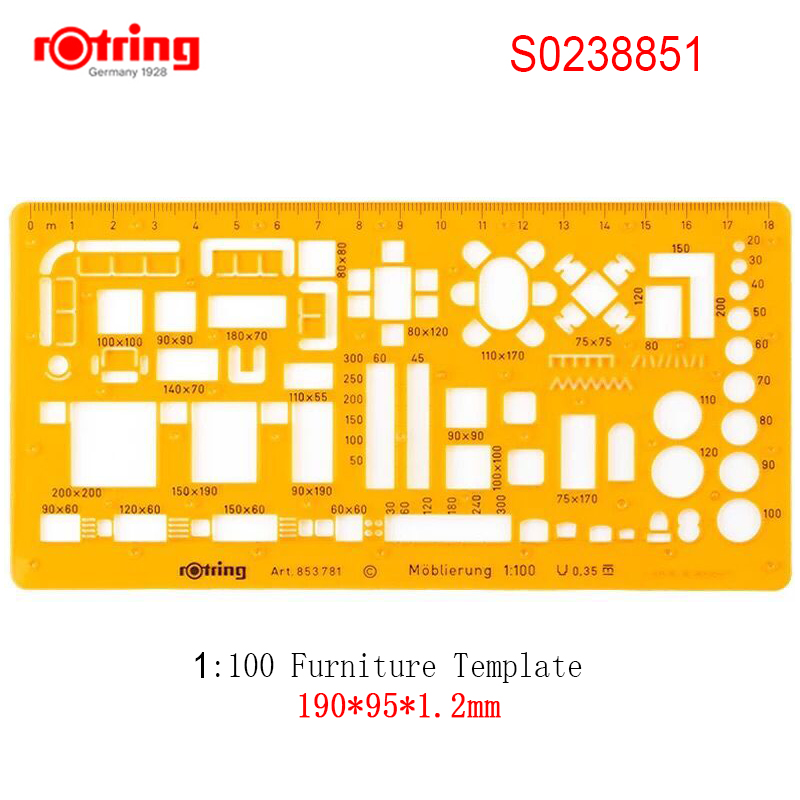rotring 1:50/1:100 Furniture Template