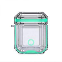 Прозрачный разноцветный чехол airpods для наушников apple защита