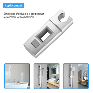 Replacement Hand Shower Bracket Square Adjustable Hand Shower Bracket Hand Sprayer Holder For Slide Bar Chrome Plated