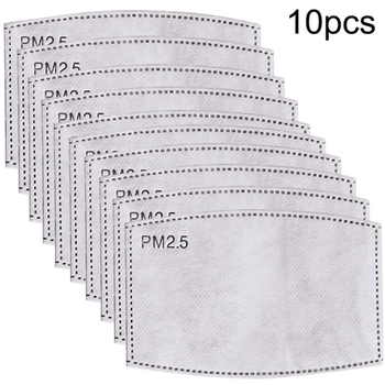 10 PCS Disposable Mask Gasket 5 layers Outdoor Cycling Dust Proof Breathable Replacement Filter Cotton Mask Pads Skin Friendly
