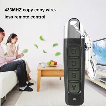 433MHZ Remote Control Garage Gate Door Opener Remote Control Duplicator Clone Cloning Code Car Key the best somfy 433 42mhz remote control duplicator somfy rts garage door opener controle somfy gate opener handheld transmitter