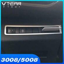 Vdéchirer – cadre de bouton de réglage des phares intérieurs de la Peugeot 3008 GT 5008 GT, garniture en ABS chromé, 2021 2020 2019