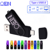Typu C usb 3.0 dyski typu flash 256GB OTG 3 w 1 pen drive 128GB pendrive 16GB cle pamięć usb 64GB klucz pamięć usb 32GB dla USB do telefonu