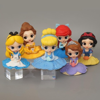 Disney Q Posket Sofia /Snow White/Alice/Bell/Mermaid princess Toys Dolls Aurore PVC Anime Dolls Figures Collectible Model alice q posket characters alice alice in wonderland pvc figure collectible model toy doll 15cm