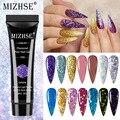 MIZHSE 15 мл полигель для ногтей алмазный удлиняющий гель для ногтей Блестящий полиуф-гель набор для быстрого наращивания акриловый УФ-гель для...