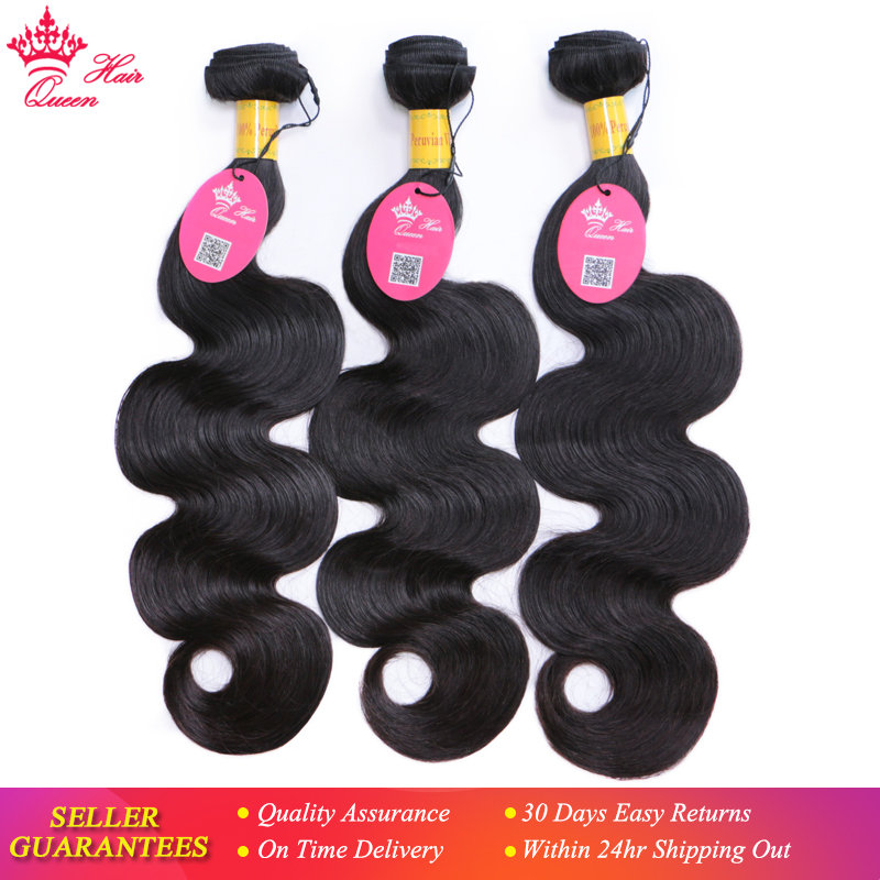 Peruvian Virgin Hair Body Wave 100% Human Hair Bundles 8-30inch 3 Piece Weave  Natural Color Hair Extension Queen Hair Products