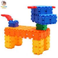 90 sztuk Hot Kids plastikowe klocki Christmas Gift montaż budowa montaż zabawek dla dzieci dzieci chłopców dziewcząt