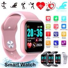 Relógio inteligente à prova dwaterproof água smartwatch para android ios relógio inteligente crianças masculino feminino monitor de freqüência cardíaca pressão arterial anti-perdido esporte