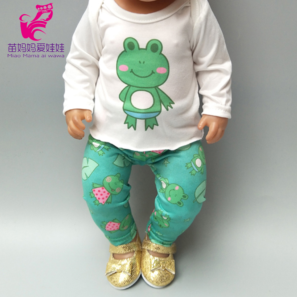 Doll Fashion Shirt And Strap Pants Set For 43cm  Baby Boy New Born Doll Clothes Set