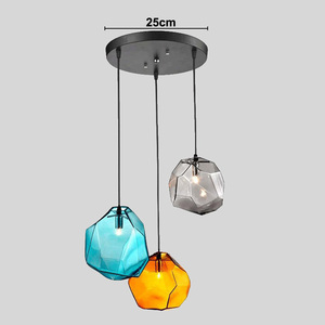 Image 4 - Modern Minimalist Pendant Lights Creative Colorful Glass Pendant Lamps Restaurant LED Lamps Indoor Home Lighting