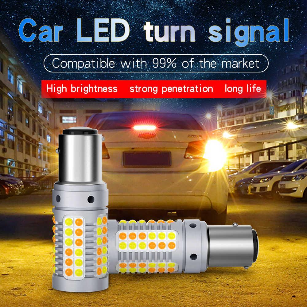 1PCS P21W LED BAU15S BAY15D Canbus Led 3030 69SMD W21/5W Auto Led per Segnale di Girata luce con lente lampade T20 7440 7443 luce di Freno