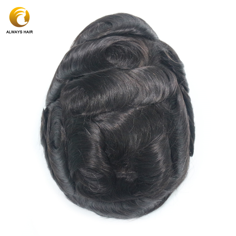 Invisible Hairline French Lace Hair Replacement For Men Bleached Knots 6 Inch 100 Free Style Lace Hair Men Toupee Human Hair