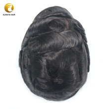 Invisible Hairline French Lace Hair Replacement for Men Bleached Knots 6 inch Free Style Lace Hair Men Toupee Indian Human Hair