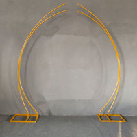 Wedding props moon arch flower decoration iron frame wedding stage Butterfly Hook ornament welcome area layout