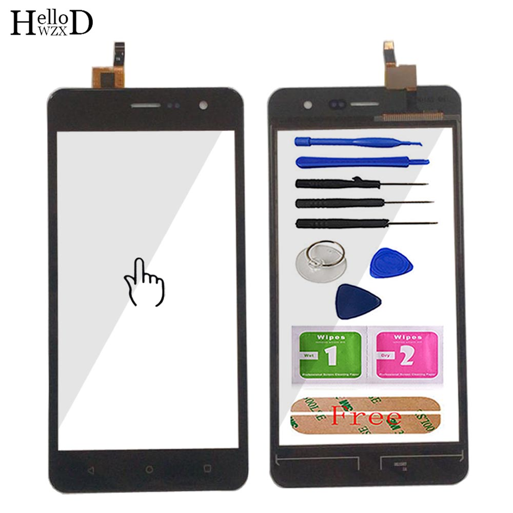 Touch Screen Glass For Fly Champ FS529 FS 529 Touch Screen Digitizer Panel Lens Glass Mobile Tools Adhesive