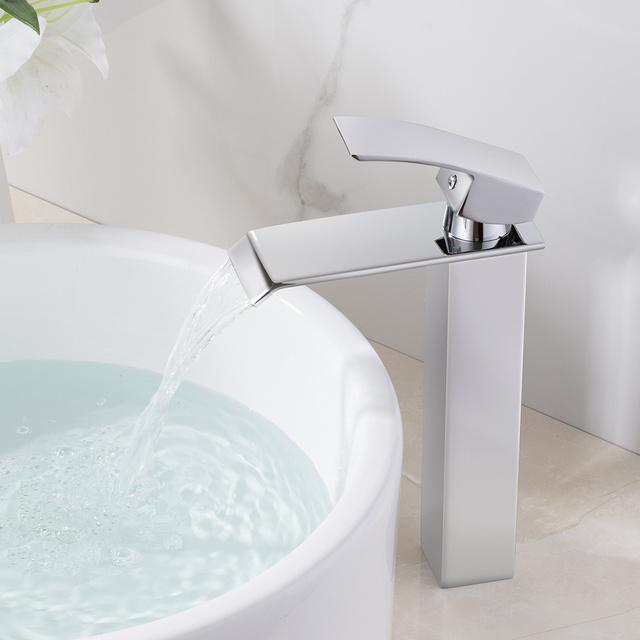 Accipiter – Squared Waterfall Polished Bathroom Basin