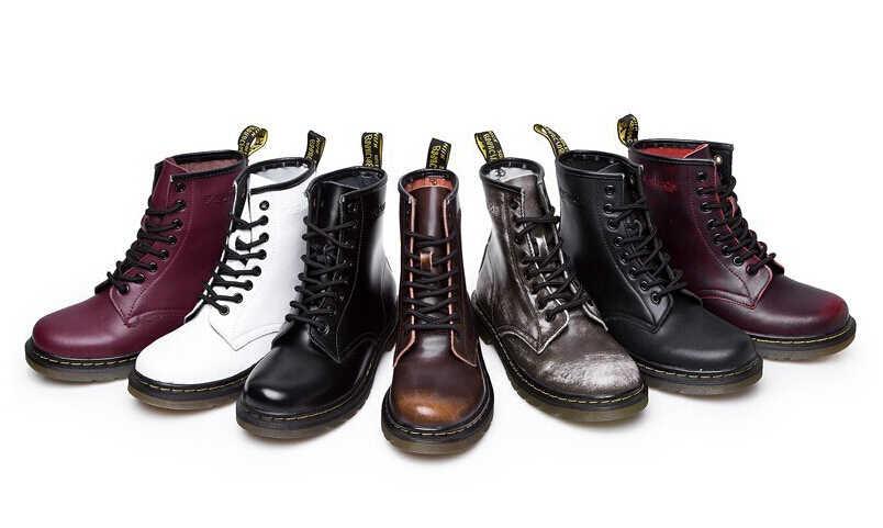 2019 Top kwaliteit split Lederen Vrouwen Laarzen Dr laarzen schoenen Hoge Top Motorfiets Herfst Winter schoenen vrouw snowboots ST50