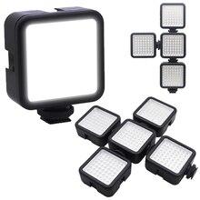 5.5W Mini Led Video Light 6000K Fotografische Verlichting Splicing Combinatie Helderheid Aanpassing 1/4 Schroef Vlog Licht Invullen