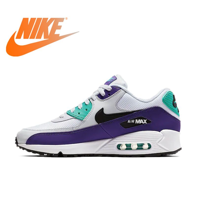 Original Authentic NIKE AIR MAX 90 ESSENTIAL Men's Running Shoes Outdoor Sneakers Breathable 2019 New Color Matching AJ1285-103