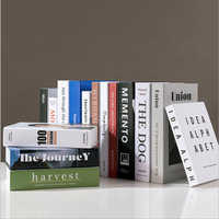 Modern Simulation Fashion Book Home Decor Club Hotel Model Room Study Soft Fake Book Decoration For Women's Living Room
