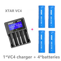 4 pcs XTAR INR 21700 4500mah max pulse discharge current 45A rechargeable battery with a VC4 charger / or nitecore i4 charger|Portable Lighting Accessories|   -