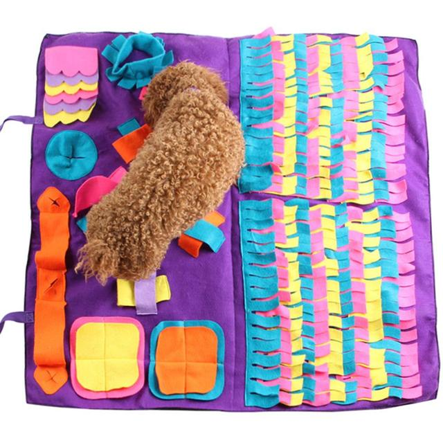 Pet Dog Snuffle Mat Pet Sniffing Training Blanket Detachable Fleece Pads Dog Mat Relieve Stress Nosework Puzzle Toy Pet Nose Pad 1