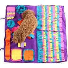 Pet cão snuffle esteira pet sniffing treinamento cobertor destacável almofadas de lã tapete do cão aliviar o estresse nosework quebra-cabeça brinquedo do nariz do animal de estimação almofada